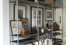 Shelves and metro carts