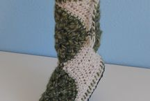 Winter Slippers Hats Mittens / Holiday Winter Gifts