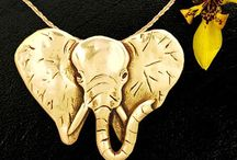 Gold Animal Jewelry / 14K gold animal charms, pendants, earrings and brooches created by an American animal loving artist - each jewelry piece is cast and finished for you. All work is done in the US. Consider a custom design gift of your favorite pet or animal. / by The Magic Zoo