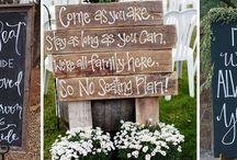 Wedding blackboard signs