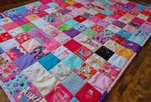 patchwork patterns from baby clothes