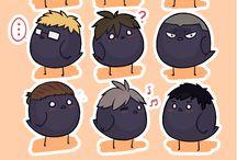 Cute crows