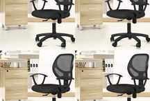 Modern Black Chairs Relax Office Furniture Home Adjustable Fabric Soft Seat Desk
