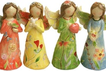 Wings: Angels, flat  and sculptural / Angels in 2 and 3 dimensional forms and multi media.