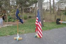 Flags and stands