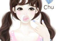 2 smile girl
