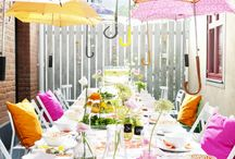 rain umbrella party ideas