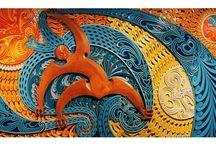 Branding – TMA / Moodboard, brain-dump, etc.   [ Fresh, contemporary, modern, slick ] vs [ Traditional, raw, land ]  Keywords: Momentum, identity, traditional & contemporary, art & culture, people, world views, māori