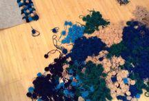Pom pom carpet / 1500 pom poms :)