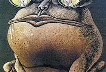 рисунок лягуха