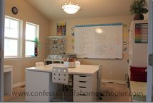 { homeschool room } / homeschool room organization ideas / by Crystal Williams