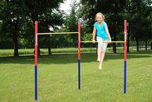 Gymnastics Horizontal Bar Double Set Kids Garden Outdoor Play Gym Home Training