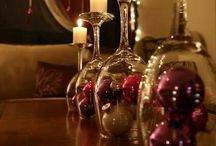 Christmas DIY / Pins for inspiration; Christmas home DIY decorations and gift making & wrapping