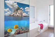 Fensterfolie Landschaften als Foto / Sichtschutzfolie für Glasflächen mit atemberaubenden Motiven