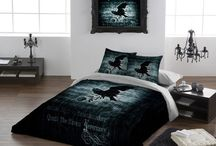 Duvets / All our Digital printed duvet, cushions covers and wall hangings are hand made in the UK .Using alternative original art work from Alchemy Gothic  we have created something unique and different for the home .All duvet sets are made to the highest specifications.Using the latest digital printing techniques we have created the most detailed images of fabric ever seen