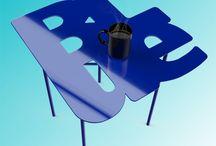 BLue / blue side table