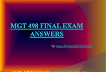 MGT 498 Final Exam Answers