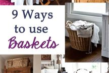 House - Baskets / Decorating wth baskets / by {living outside the stacks}