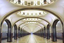 Histoire -Metro Russe / Le métro russe qui est une oeuvre d'art