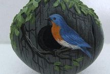 PAINTED STONES (Birds) / All kinds of birds / by Zoe Madison