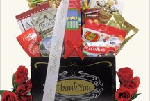 "Thank You Gift Baskets /  ""Thank You gift baskets!"" The attractive gift baskets and boxes carry delicious assortment of tasty treats while sending your sincere thank you!"