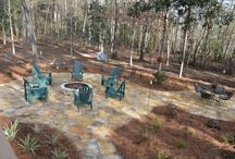 Back Yard Fire Pit and Patio