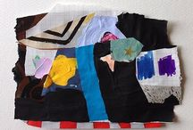 Emily Filler - Colour Studies / collage mixed media works on paper made from fashion magazines, vintage photographs, the New York Times, gouache..