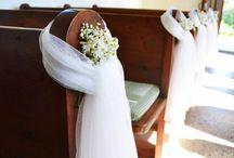svatební výzdoba kostela