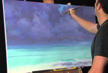 σύννεφα ζωγραφική