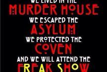 AHS / Murder House, Asylum, Coven, Freak Show