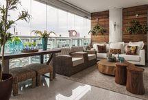 Decoração: Varandas - Balcony / Inspire-se nas mais lindas varandas e transforme a sua varanda em um lindo ambiente da sua casa. Visite www.thyaraporto.com/blog e confira ótimas dicas para decorar a sua casa.
