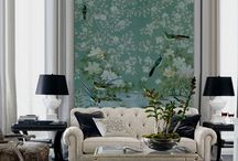 home decoration / 100% silk wallpaper, 100% handmade metallic wallpaper with custom antique finishing  Hand-painted chinese painting/ Hand-painted chinoiserie panels @ NSR HANDCRAFTS