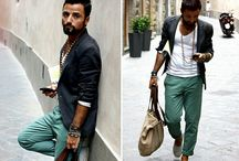 outfit & beard 's posing / Posing with sophisticated outfit and bearded look