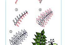 Zentangle végétaux