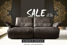 Simply Sofas Sale / All our finest European furniture are on sale. For the first time Simply Sofas is giving upto 30% off on all its products. Shop today! http://simplysofas.in/