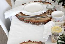 Tischdekorationen