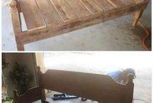 banc à partir  de lit en bois