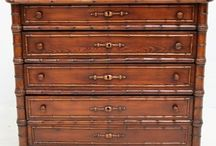 CHEST OF DRAWERS / Regency, Georgian, Victorian and later chest of drawers which have been a staple storage in homes for centuries that are or have been for sale on the Decorative Collective website.