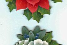 Christmas decoupage motives