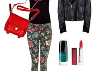 Outfit, makeup, hairstyles and nails