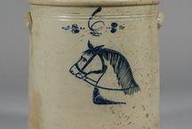 Stoneware rustic decor / Antique stoneware jugs bottles cream pots from all around the world