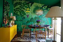 green wall interiors