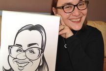 Live drawn caricatures