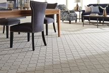 Madrigal / A super luxurious, solid color, cut and loop carpet pattern that is inspired by Moroccan tiles.