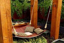 BACK YARD MERRIMENT> / beautiful backyard ideas, backyard plants, trees, climbers, creepers, pergolas, decks
