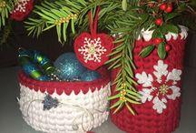 EllisCroch / handmade crochet bags and baskets, t-shirt yarn