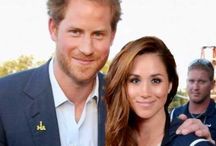 Prince Harry with his fiance MeghanMarkle