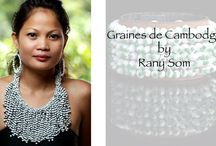 Fashion with impact / Creations by Rany Som. Handmade jewelleries with natural seeds of Cambodia.  Customers can buy Rany's creation online in Canada and USA.