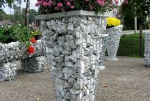 Ideas Gabion Benches & Walls & Planters