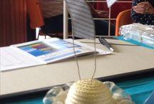 Mes créations en papier / Utilisation de morceaux de papier écrit pour fabriquer des objets décoratifs